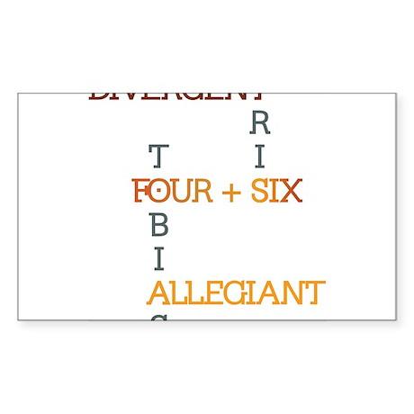 Divergent, Insurgent, Allegiant Sticker