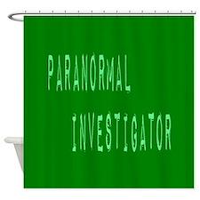 Paranormal Investigator (Label) Shower Curtain
