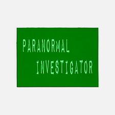 Paranormal Investigator (Label) 5'x7'Area Rug