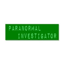 Paranormal Investigator (Label) Car Magnet 10 x 3