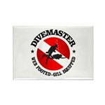 Divemaster (Round) Rectangle Magnet (10 pack)