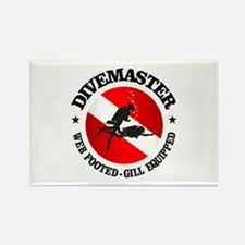 Divemaster (Round) Rectangle Magnet