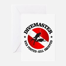 Divemaster (Round) Greeting Cards (Pk of 10)