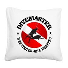 Divemaster (Round) Square Canvas Pillow