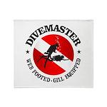 Divemaster (Round) Throw Blanket