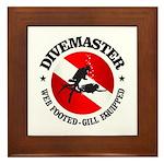 Divemaster (Round) Framed Tile