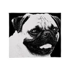 Pug Sketch Throw Blanket