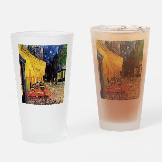 Cafe Terrace at Night by Vincent va Drinking Glass