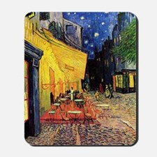 Cafe Terrace at Night by Vincent van Gog Mousepad