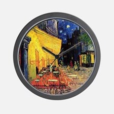 Cafe Terrace at Night by Vincent van Go Wall Clock