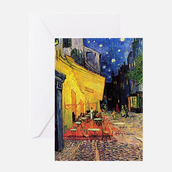 Cafe Terrace at Night by Vincent van Greeting Card