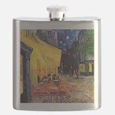 Cafe Terrace at Night by Vincent van Gogh Flask