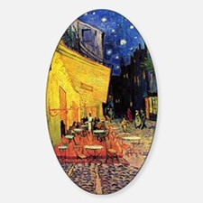 Cafe Terrace at Night by Vincent va Sticker (Oval)