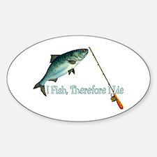 Fisherman Shirt Oval Decal