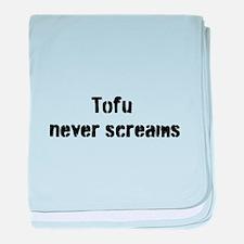 Tofu Never Screams baby blanket