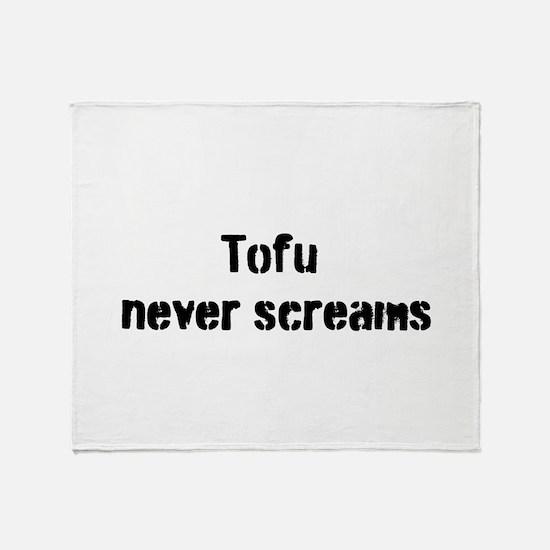Tofu Never Screams Throw Blanket