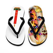Christmas Hotdog Flip Flops