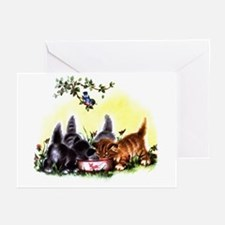 MEOW TIME KITTENS Greeting Cards (Pk of 10)