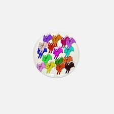 Rainbow Rabbits Mini Button