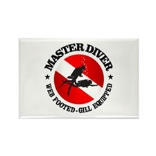 Master Diver (Round) Rectangle Magnet