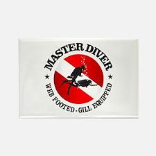 Master Diver (Round) Rectangle Magnet