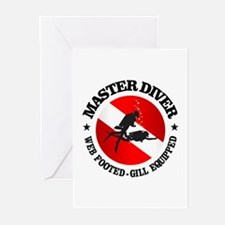Master Diver (Round) Greeting Cards (Pk of 10)