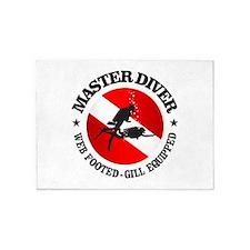Master Diver (Round) 5'x7'Area Rug