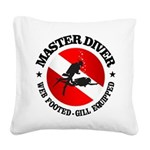 Master Diver (Round) Square Canvas Pillow