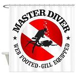 Master Diver (Round) Shower Curtain