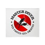 Master Diver (Round) Throw Blanket