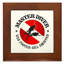 Master Diver (Round) Framed Tile
