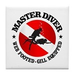 Master Diver (Round) Tile Coaster