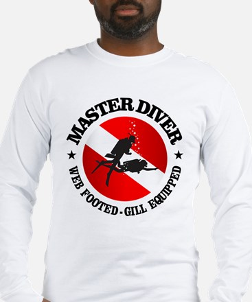 Master Diver (Round) Long Sleeve T-Shirt