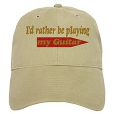 Rather Be Playing Guitar Baseball Baseball Cap