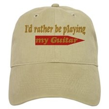 Rather Be Playing Guitar Baseball Cap