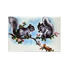 SQUIRRELY SQUIRRELS Rectangle Magnet