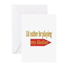 Rather Be Playing Guitar Greeting Cards (Pk of 10)