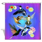 SHOWER CRTAIN For The Love Of Hummingbirds Shower