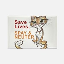 Cute Spay and neuter Rectangle Magnet