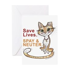 Save Lives. Spay & Neuter. Greeting Cards