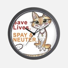 Cute Feral cat Wall Clock