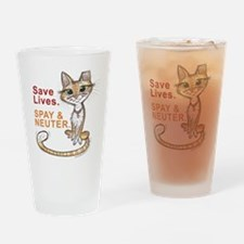 Cute Stray Drinking Glass