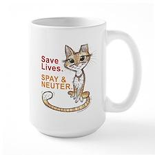 Save Lives. Spay & Neuter. Mugs
