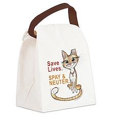 Cute Stray Canvas Lunch Bag