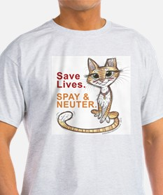 Save Lives. Spay & Neuter. T-Shirt
