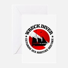 Wreck Diver (Ship) Greeting Cards (Pk of 10)