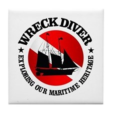 Wreck Diver (Ship) Tile Coaster