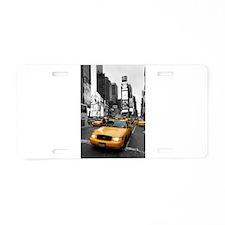 New York Yellow Cab Aluminum License Plate