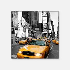 "New York Times Square-Pro P Square Sticker 3"" x 3"""