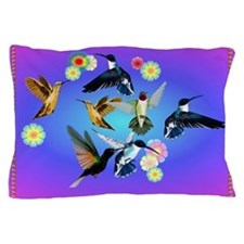 For The Love Of Hummingbirds Pillow Case